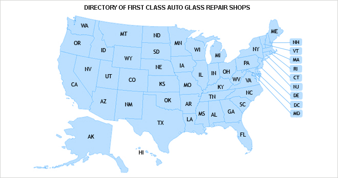 windshield crack repair near me map