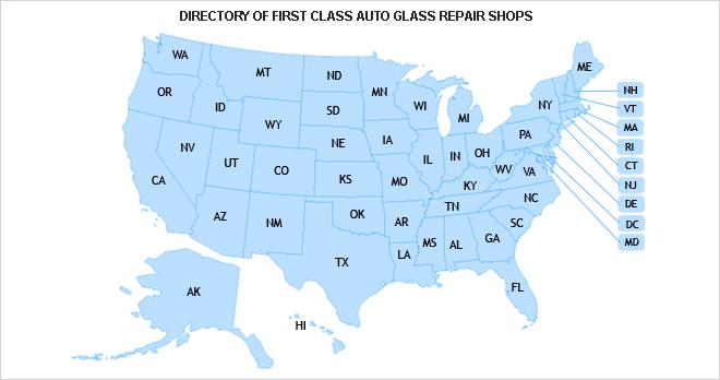 windshield crack repair near me map